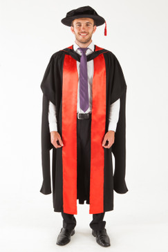 UQ Doctor Graduation Gown Set - PhD - Front view