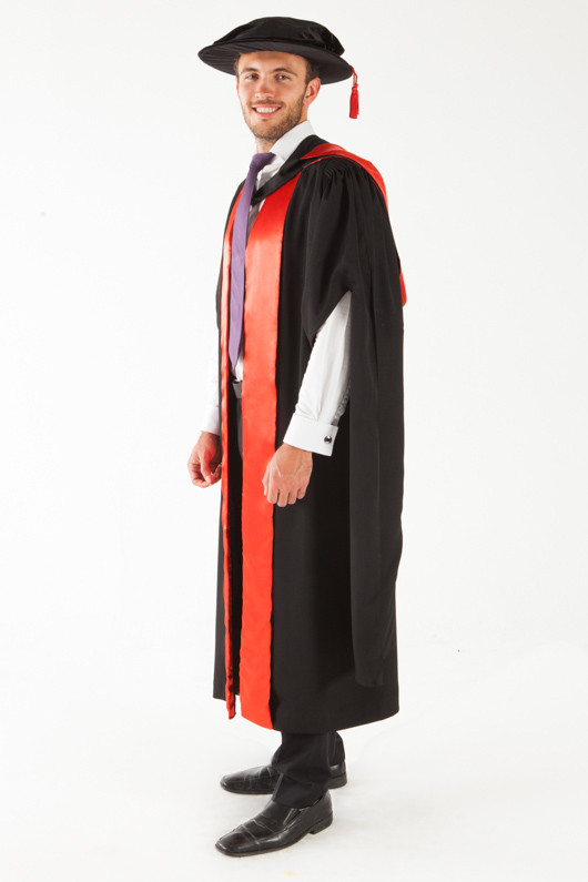 QUT Doctor Graduation Gown Set - PhD - Front angle view