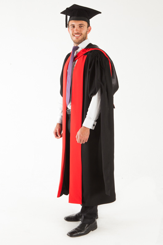 University of Sydney Doctor Graduation Gown Set - PhD - Front angle view