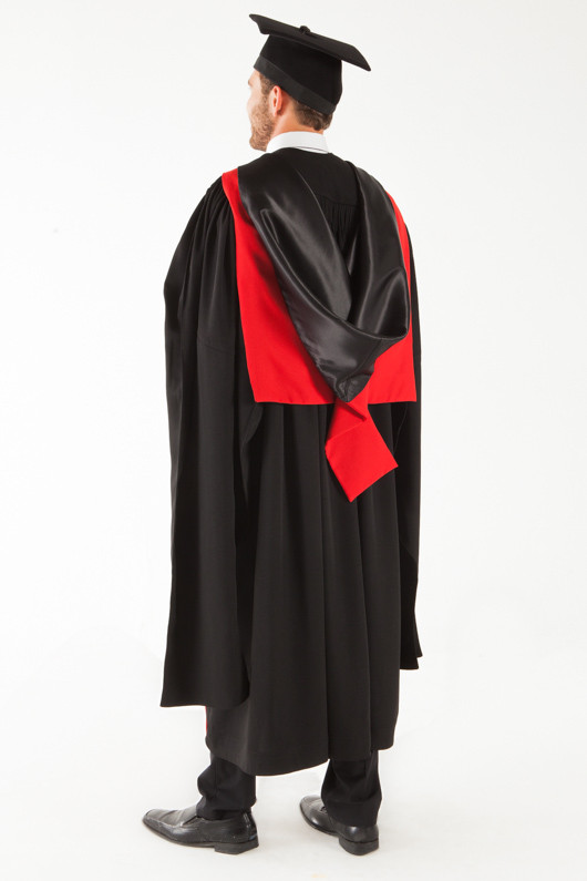 University of Sydney Doctor Graduation Gown Set - PhD - Back angle view