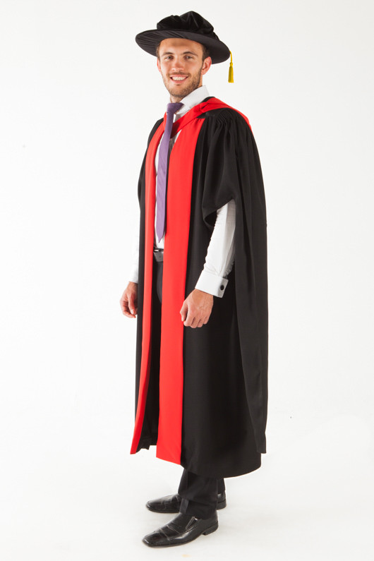 University of Adelaide Doctor Graduation Gown Set - PhD - Front angle view