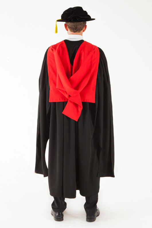 University of Adelaide Doctor Graduation Gown Set - PhD - Back view