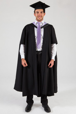 University of Melbourne Masters Graduation Gown Set - Music - Front view