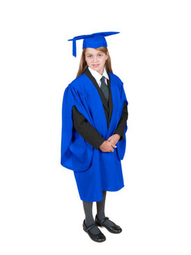 Primary Traditional-Style Blue Gown & Cap - Ages 3 to 4