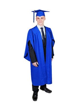 Secondary Traditional-Style Blue Gown & Cap - 155-168cm