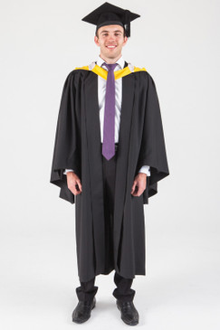 Macquarie University Bachelor Graduation Gown Set - Arts - Front view