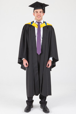 Macquarie University Bachelor Graduation Gown Set - Business and Economics - Front view