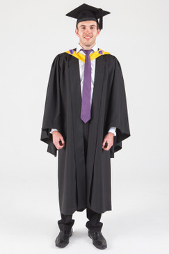 Macquarie University Bachelor Graduation Gown Set - Law - Front view