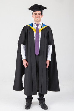 Macquarie University Masters Graduation Gown Set - Business and Economics - Front view