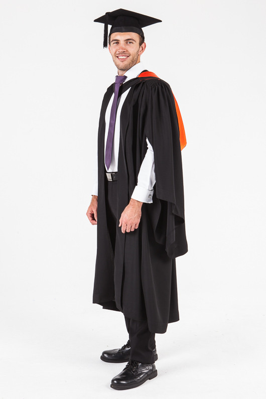 UON Bachelor Graduation Gown Set - Nursing - Front angle view