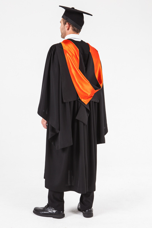 UON Bachelor Graduation Gown Set - Nursing - Back angle view