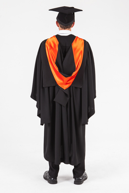 UON Bachelor Graduation Gown Set - Nursing - Back view