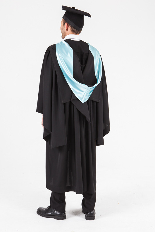 UON Bachelor Graduation Gown Set - Commerce and Economics - Back angle view