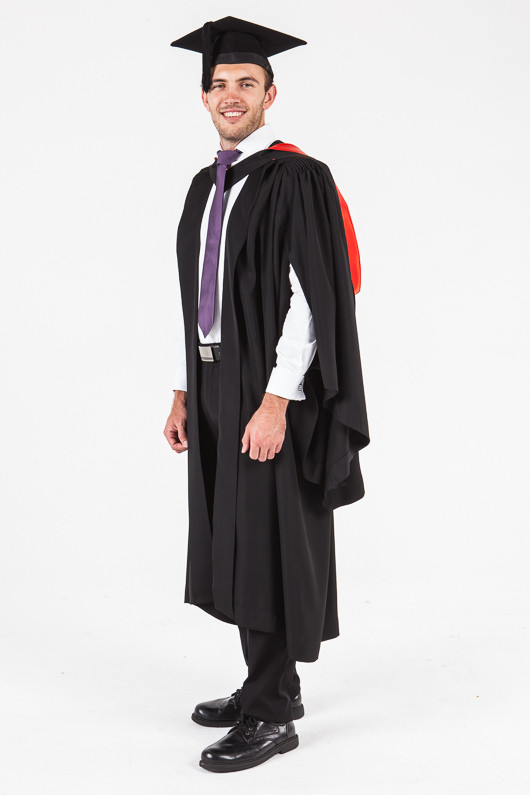 UON Bachelor Graduation Gown Set - Law - Front angle view