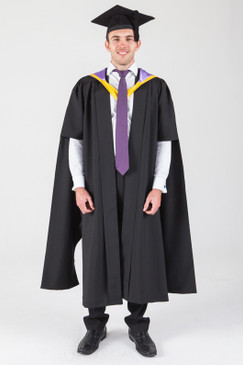 Macquarie University Masters Graduation Gown Set - Law - Front view