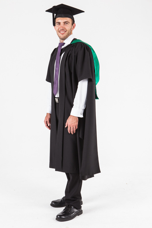 f831d19a1c1 ... UON Masters Graduation Gown Set - Education - Front angle view ...