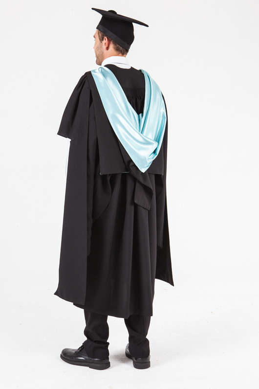 UON Masters Graduation Gown Set - Commerce and Economics - Back angle view