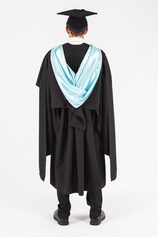 UON Masters Graduation Gown Set - Commerce and Economics - Back view