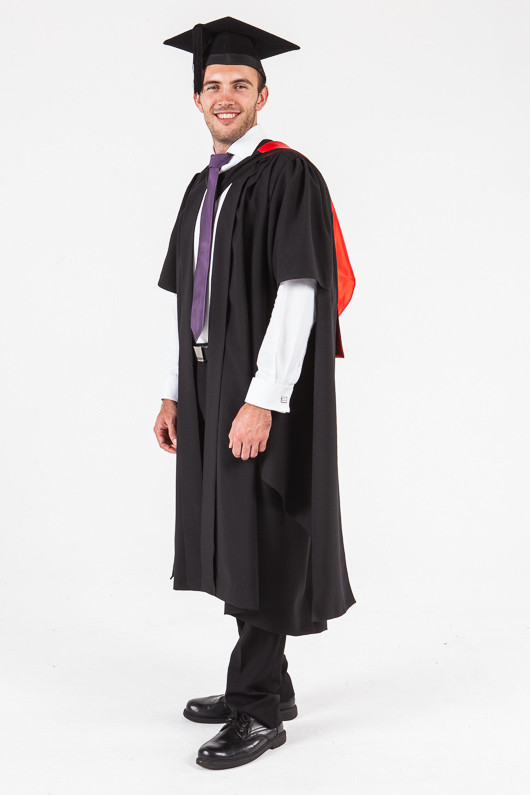UON Masters Graduation Gown Set - Law - Front angle view
