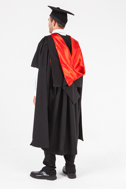 UON Masters Graduation Gown Set - Law - Back angle view