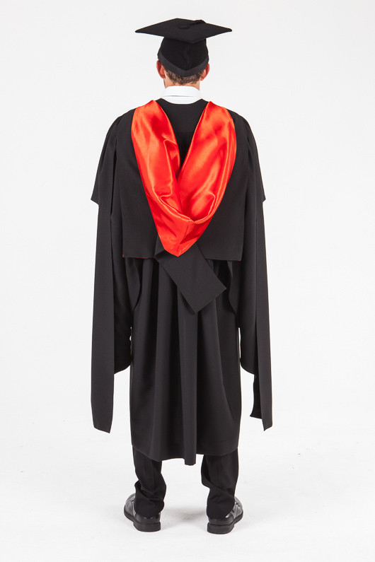 UON Masters Graduation Gown Set - Law - Back view