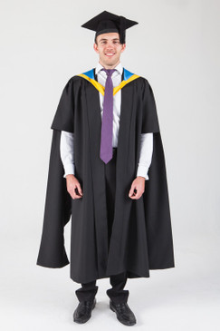 Macquarie University Masters Graduation Gown Set - Management - Front view