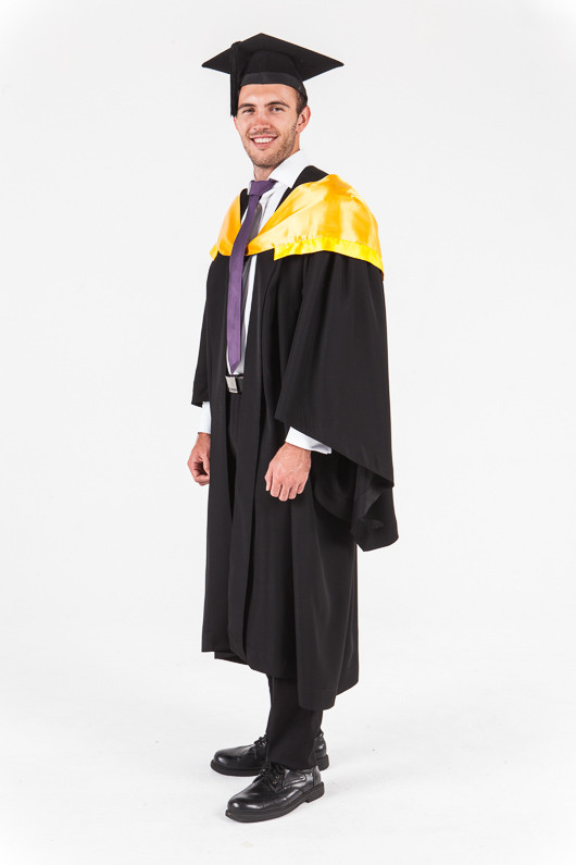 University of Western Australia Honours Graduation Gown Set - Engineering - Front angle view