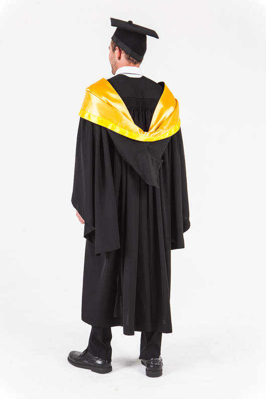 University of Western Australia Honours Graduation Gown Set - Engineering - Back angle view