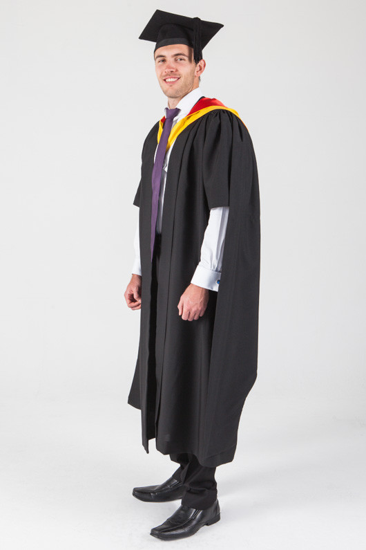 Macquarie University Masters Graduation Gown Set - Medicine - Front angle view
