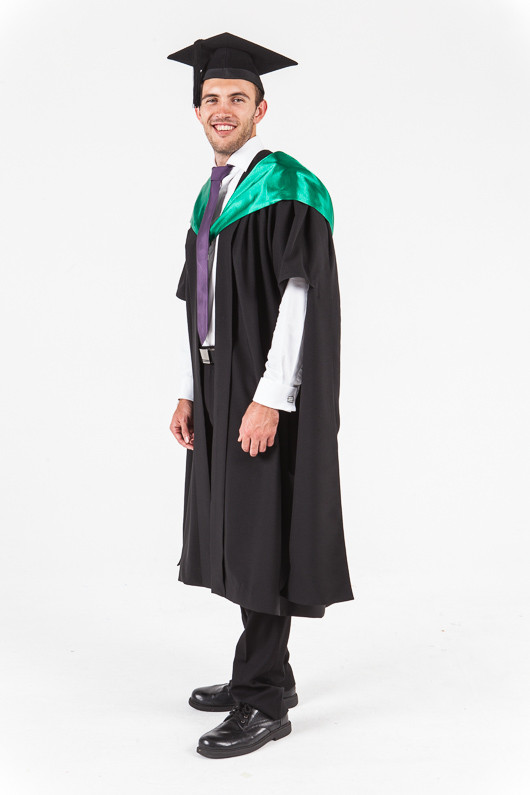 University of Western Australia Masters Graduation Gown Set - Science - Front angle view