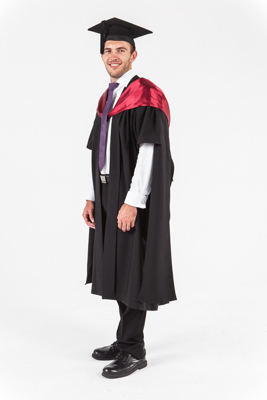 University of Western Australia Masters Graduation Gown Set - Medicine - Front angle view