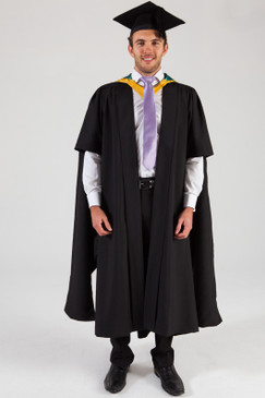 Macquarie University Masters Graduation Gown Set - Science and Engineering - Front view