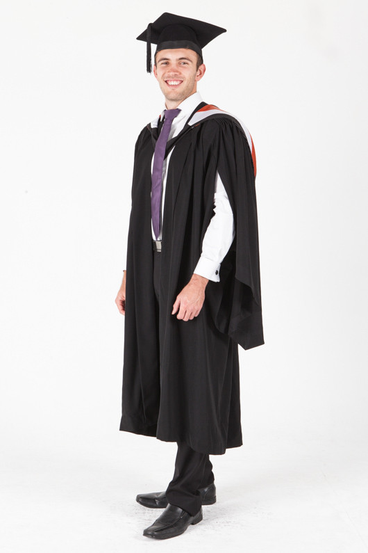 University of Sydney Bachelor Graduation Gown Set - Commerce - Front angle view