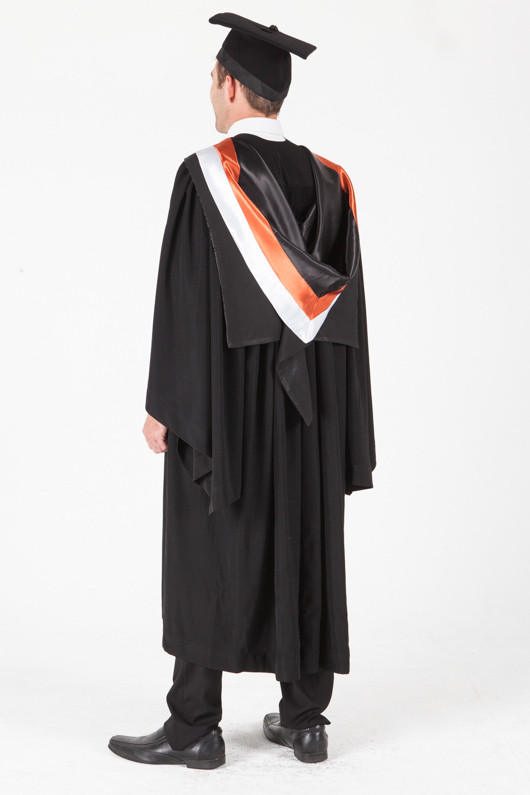 University of Sydney Bachelor Graduation Gown Set - Commerce - Back angle view