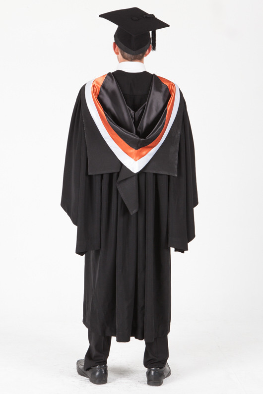 University of Sydney Bachelor Graduation Gown Set - Commerce - Back view