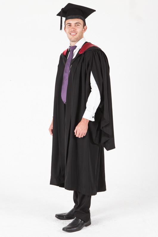 University of Sydney Bachelor Graduation Gown Set - Engineering - Front angle view