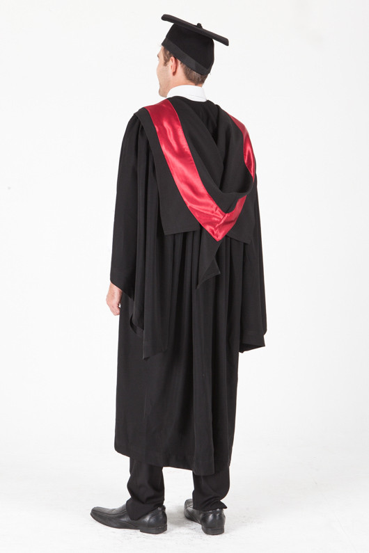 University of Sydney Bachelor Graduation Gown Set - Engineering - Back angle view