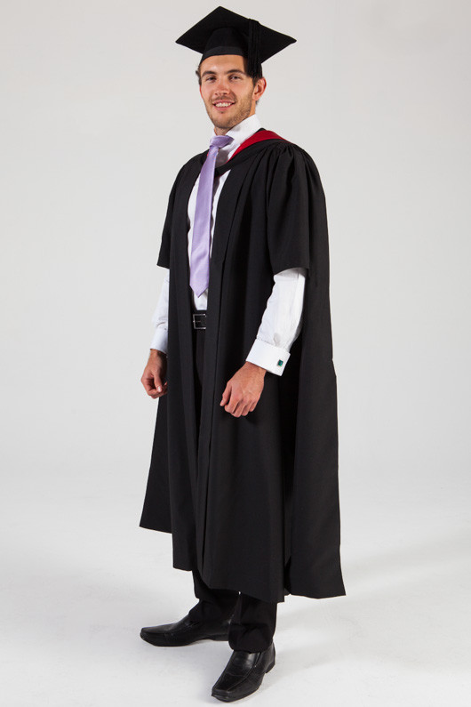 University of Melbourne Masters Graduation Gown Set - Medicine - Front angle view
