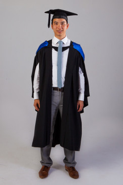 QUT Bachelor Graduation Gown Set - Business - Front view