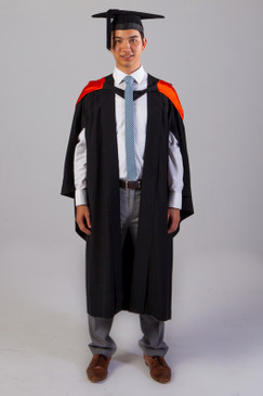 QUT Bachelor Graduation Gown Set - Health - Front view