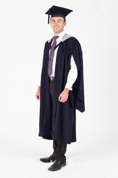 La Trobe University Masters Graduation Gown Set - Humanities and Social Sciences - Front view