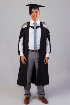 QUT Bachelor Graduation Gown Set - Law - Front view