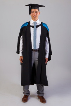 QUT Bachelor Graduation Gown Set - Science and Engineering - Front view