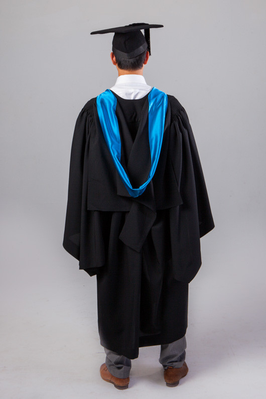 QUT Bachelor Graduation Gown Set - Science and Engineering - Back view