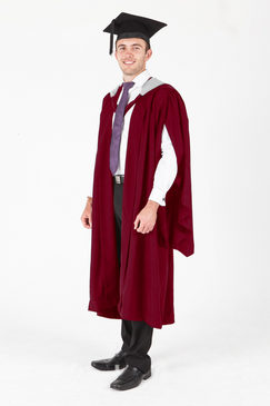 Murdoch University Masters Graduation Gown Set - Reseach and Philosophy - Front view