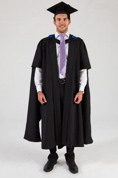 QUT Masters Graduation Gown Set - Business - Front view