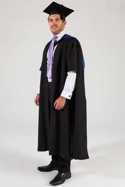 QUT Masters Graduation Gown Set - Business - Front angle view