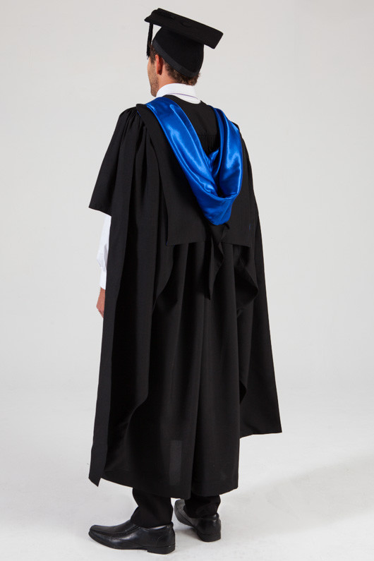 QUT Masters Graduation Gown Set - Business - Back angle view