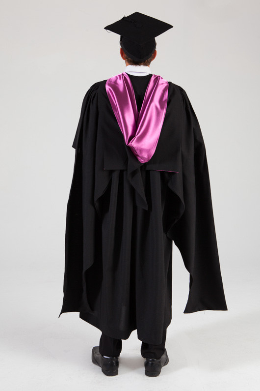 QUT Masters Graduation Gown Set - Creative Industries - Back view