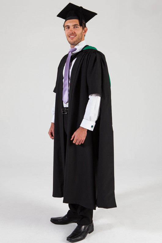 QUT Masters Graduation Gown Set - Education - Front angle view